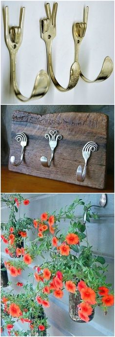 Einrichtungsideen DIY Upcycling Besteck What you need to remember when you are using a landscaping s Metal Projects, Metal Crafts, Diy And Crafts, Diy Projects, Eco Deco, Silverware Art, Metal Art, Diy Furniture, Diy Home Decor