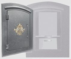 Locking Column Mailbox (scroll) Bronze (stucco column purchased seperately)