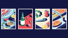 A Night Out in Seoul, abeautiful illustration series created by Coen Pohl. Coen Pohl is a Dutch freelance illustrator and graphic designer who lives and w