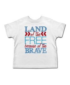White 'Land of the Free' Tee - Toddler & Kids