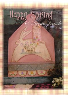 Happy Spring - by Terrye French,  E Pattern by PaintingWithFriends on Etsy