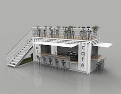 container coffee shop Container Cafe and Restaurant shipping model Container Coffee Shop, Container Shop, Container House Plans, Container House Design, Container Homes, Cafe Shop Design, Kiosk Design, Cafe Interior Design, Deco Restaurant