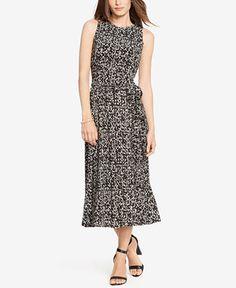 Lauren Ralph Lauren Printed Jersey Dress - Dresses - Women - Macy's