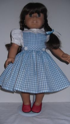 American Girl Doll Clothes  Dorothy Dress and Red by susiestitchit, $19.50