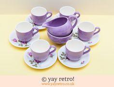 50s Rose Coffee Set - so cute!