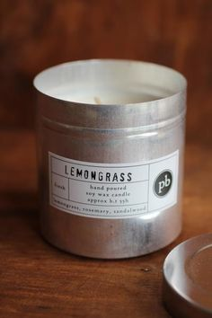 Lemongrass TInned Candle | discoverattic