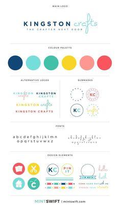 Brand Design for Kingston Crafts - MintSwift Branding Kit, Kids Branding, Business Branding, Colorful Branding, Collateral Design, Brand Identity Design, Brand Design, Packaging Design, Brand Packaging