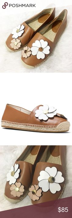 New Michael Kors Flower Leather Espadrille Flats SO cute and perfect for any season! Super cute luggage brown color. Size 8. Leather flower appliqué. Brand new and never worn! Sold out everywhere. No trades!! 071317180pcf MICHAEL Michael Kors Shoes Flats & Loafers