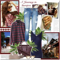 A fashion look from August 2014 featuring Chicnova Fashion blouses, Clu tops and Vero Moda jeans. Browse and shop related looks.