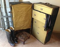 vintage steamer trunk f Vintage 1950s Steamer Trunk use as Coffee Table How to refinish a vintage trunk and use it as a stylish coffee table, see original blog Repinned by www.silver-and-grey.com