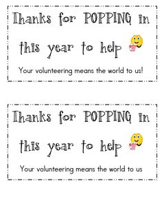 thanks for popping in free printable - Google Search ...