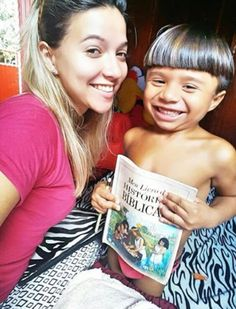 Sharing the Good News with children of Amazonas, Brazil (Credit @michellysoengas)