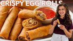 Creamy Shrimp Pasta Recipe (VIDEO) - NatashasKitchen.com Egg Roll Recipes, Soup Recipes, Cookie Recipes, Chicken Recipes, Homemade Egg Rolls, Salmon Patties Recipe, How To Make Eggs, Recipe Ratings, Recipes