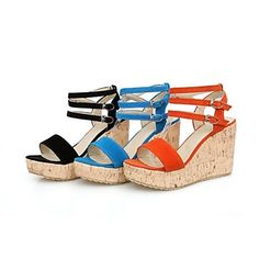 Women's Shoes Fleece Wedge Heel Slingback Sandals Shoes More Colors available – USD $ 34.99
