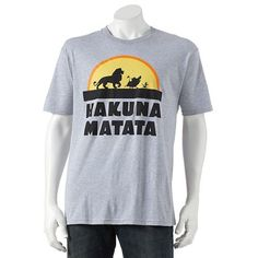"Men's Disney The Lion King ""Hakuna Matata"" Tee, Size: Large, Light Grey Disney Usa, Disney Magic, Mens Printed Shirts, Men's Shirts, Lion King Hakuna Matata, Lion King Baby Shower, Disney Lion King, Disney Shirts For Family"