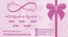 Certificado de regalo via Infinita Belleza. Click on the image to see more!                                                                                                                                                     Más