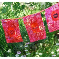 Passion Blessing Flags by FromTheLaurelTree on Etsy