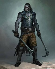 Mortal Kombat Kabal By GeorgeVostrikov. Maybe this is more insane. Fantasy Character Design, Character Creation, Game Character, Character Concept, Character Inspiration, Art Mortal Kombat, Dark Fantasy, Fantasy Art, Sci Fi Characters