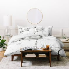Chelsea Victoria Marble #duvet Cover   Deny Designs