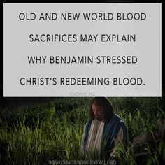 King Benjamin's language and imagery of blood was intensified by ancient Israelite covenant rituals and the New World environment of the Nephites. https://knowhy.bookofmormoncentral.org/content/why-does-king-benjamin-emphasize-the-blood-of-christ #Blood #Mormon #LDS #BookofMormon #Knowhy