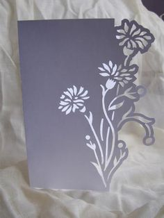 Floral 5 Over the Edge Card Kirigami, Paper Cutting, Stencil Templates, Card Templates, Thermocol Craft, Paper Art, Paper Crafts, Paperclay, Cricut