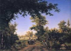 イヴァン・シーシキン(Ivan Shishkin)「View on the Outskirts of St. Petersburg」ロシア美術館 Ivan_Shishkin_-_View_on_the_Outskirts_of_St._Petersburg.JPG (1725×1239)