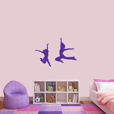 Sweetums Dancer Silhouettes Medium Wall Decal Set