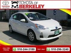 2017 Toyota Prius C Two White 17 990 10081 Miles 510 244 3180 Transmission Automatic Used Cars Toyotaofberkeley Berkeley Ca Tapcars