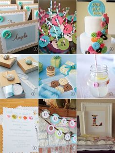 Baci Designer: Handpicked   Button Baby Shower Inspiration