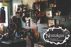 A nice selection of women's and menswear vintage finds, as well as some homewares/contemporary goods mixed in.
