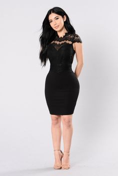 - Available In Black and Blush - Sleeveless Dress - Lace Detail - Back Zipper Closure - Self: 60% Cotton 33% Nylon 7% Spandex - Contrast: 100% Polyester