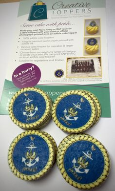 Wrens/WRNS crest as cake toppers - ideal for reunions & celebrations