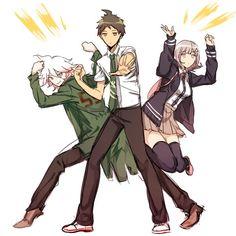 Komaeda, Hinata and Nanami, Super Danganronpa 2