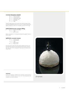 magazine by Grupo Vilbo - issuu Kokos Desserts, Coconut Desserts, Gourmet Desserts, Fancy Desserts, Plated Desserts, Gourmet Recipes, Baking Recipes, Sweet Recipes, Cake Recipes