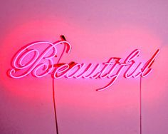 ✈ Pink is Beautiful ✈ Pink Love, Pretty In Pink, Hot Pink, Bright Pink, Tout Rose, Neon Words, Was Ist Pinterest, Neon Aesthetic, Neon Glow