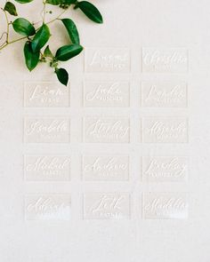 Elegant simplicity. Loved this modern acrylic place cards @letterlovestudio created for Landen & Jake's Dallas affair! Photo by… Event Signage, Affair, Dallas, Place Cards, Elegant, Create, Places, Modern, Instagram
