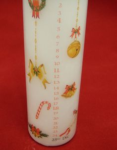 24 hours only - 20% off Christmas Advent Candle - Choice 3 designs