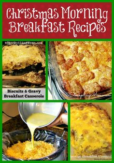 Christmas Morning Breakfast Recipes that are perfect to make the day before or cook all night in your crockpot for your family!