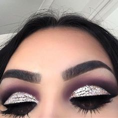 Been loving the dramatic glitter cut crease look lately Dipbrow in Dark Brown Noir eyeshadow Black Kyliner in Miami Beauty Killer Palette Midnight Cowboy Glitter Liner all over the lid palette & eye brushes - April 27 2019 at Eye Makeup Tips, Makeup Goals, Skin Makeup, Makeup Ideas, Makeup Designs, Eyebrow Makeup, Makeup Tutorials, Makeup Products, Makeup Style