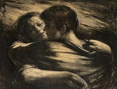 """"""" Perhaps we are in this world to search for love, find it and lose it, again and again. With each love, we are born anew, and with each love that ends we collect a new wound. I am covered with proud scars."""" Isabel Allende Odd Nerdrum - Kjærlighetspar"""
