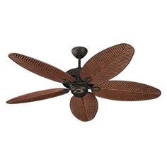 """Monte Carlo Cruise 52"""" Wet Rated Outdoor Ceiling Fan Roman Bronze Fans Ceiling Fans Outdoor Ceiling Fans Monte Carlo, 52 Inch Ceiling Fan, Bronze Ceiling Fan, White Ceiling, Hunter Douglas, Porches, Tropical Ceiling Fans, Large Fan, Light In"""