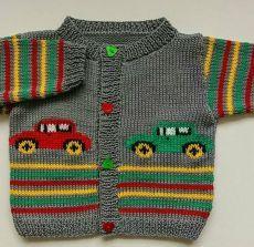Baby Boy Knitting Patterns, Baby Cardigan Knitting Pattern, Knitting For Kids, Baby Patterns, Hand Knitting, Crochet Patterns, Vest Pattern, Knitting Ideas, Cardigan Bebe