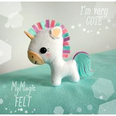 Cute Unicorn felt ornament unicorn Christmas ornament Easter decor... (93 GTQ) ❤ liked on Polyvore featuring home, home decor, holiday decorations, easter home decor, felt xmas ornaments, unicorn christmas ornament, felt christmas ornaments and easter ornaments