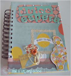 #agenda de #embarazo #scrap Ready To Pop, Cover, Fraternal Twins, Pregnancy, Day Planners, Hand Made, Creativity