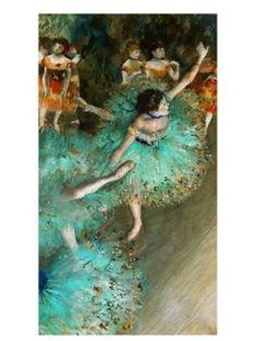 Green Dancer, Degas