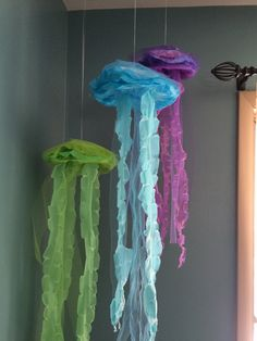 Jellyfish hanging decor bubble guppies under the by SwitzersSweets