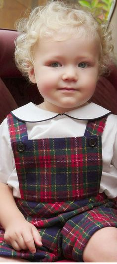 RACHEL RILEY Baby Tartan Dungarees. Cutest Baby Clothes from the UK! #baby #kidsfashion #kidsstyle #boy #girl #rachelriley