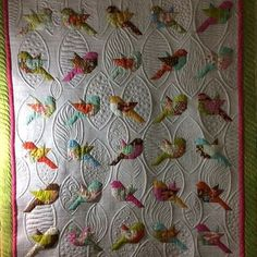 New patchwork quilting designs Ideas Colchas Quilting, Quilt Stitching, Free Motion Quilting, Applique Quilts, Quilting Ideas, Crazy Quilting, Machine Embroidery Quilts, Bird Applique, Embroidered Quilts