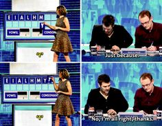 Rhod showed that the old ones are the best. Sort of. Like <i>Countdown</i>, but better. Sorry, Vorderman.Like <i>Countdown</i>, but better. Sorry, Vorderman. You Funny, Funny People, Funny Cute, Hilarious, Funny Shit, Funny Stuff, British Humor, British Comedy, English Comedy