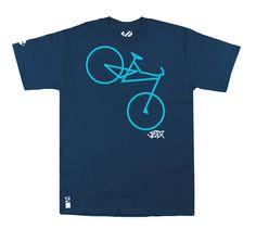 Setup® Bikeline T-Shirt // Navy Blau von Setup Brand auf DaWanda.com